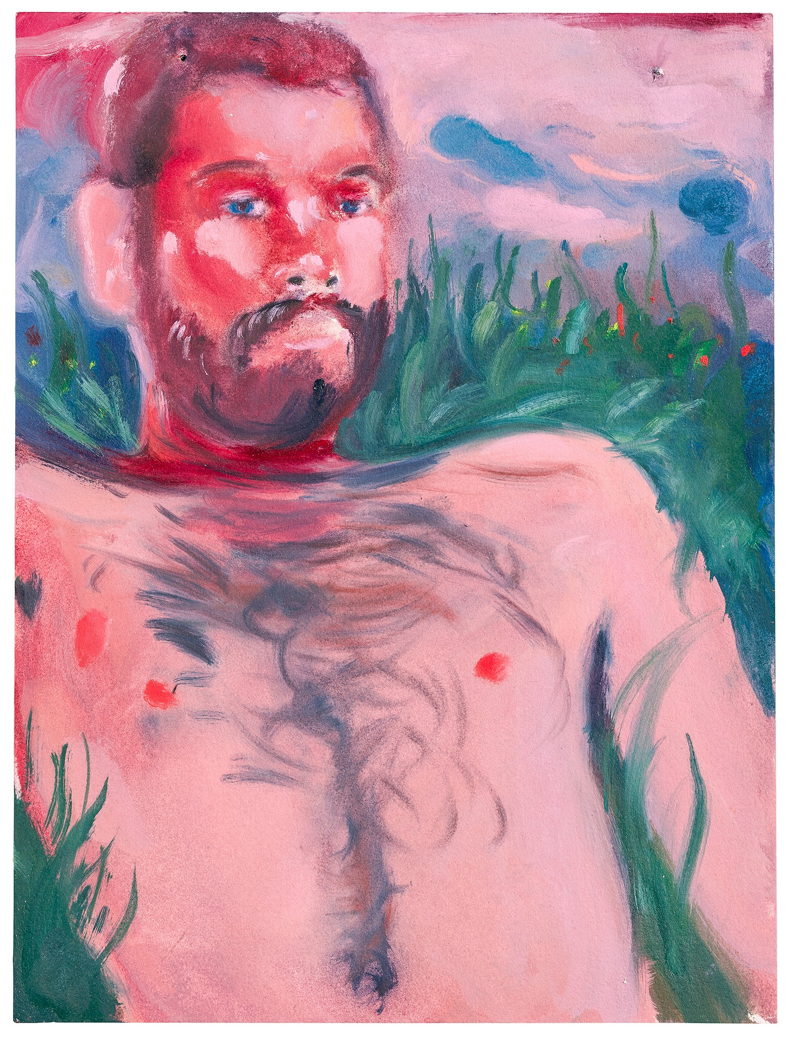 A painting by Aaron Michael Skolnick titled Untitled, dated 2020.