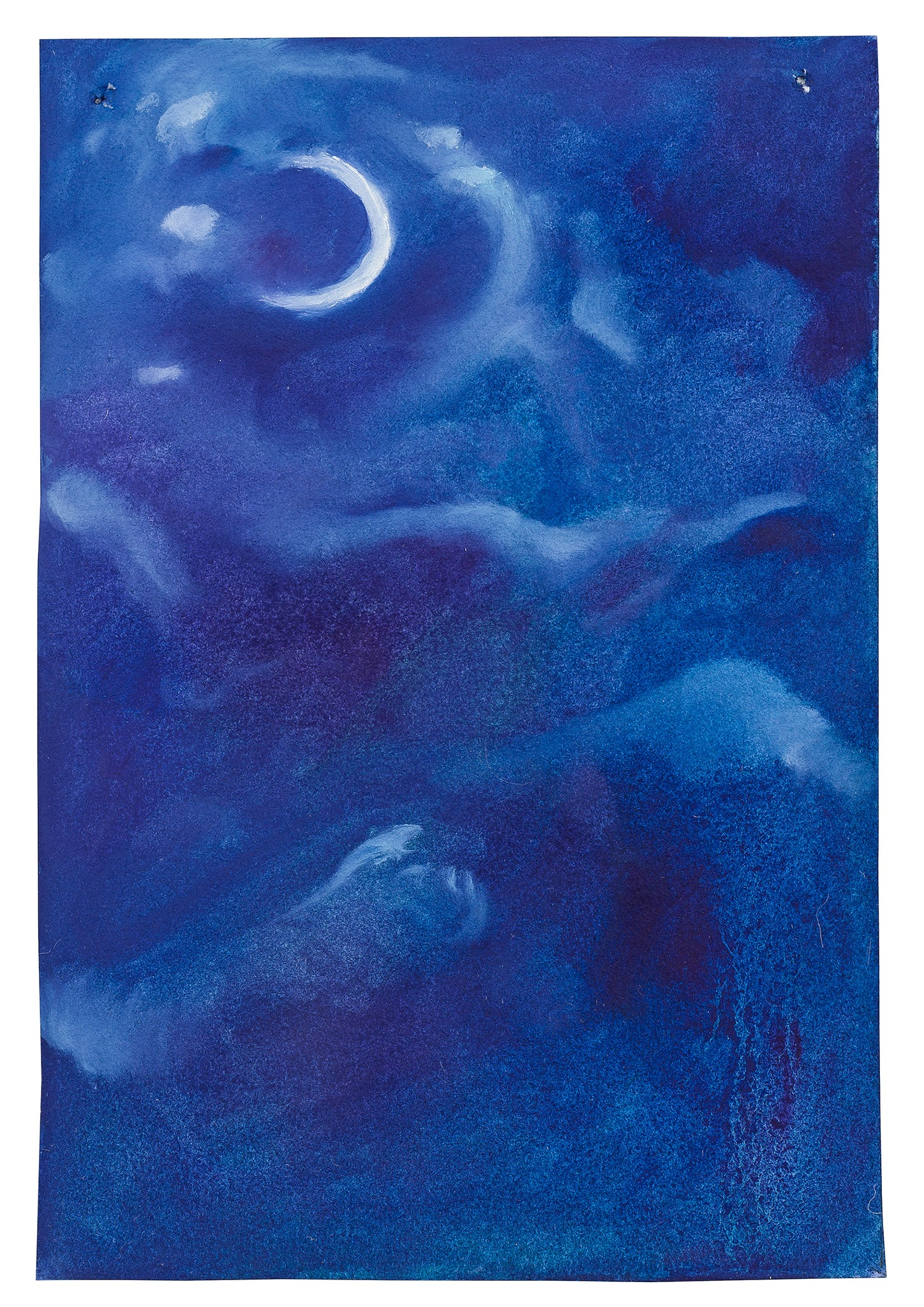 A painting by Aaron Michael Skolnick titled Night Sky, dated 2020.