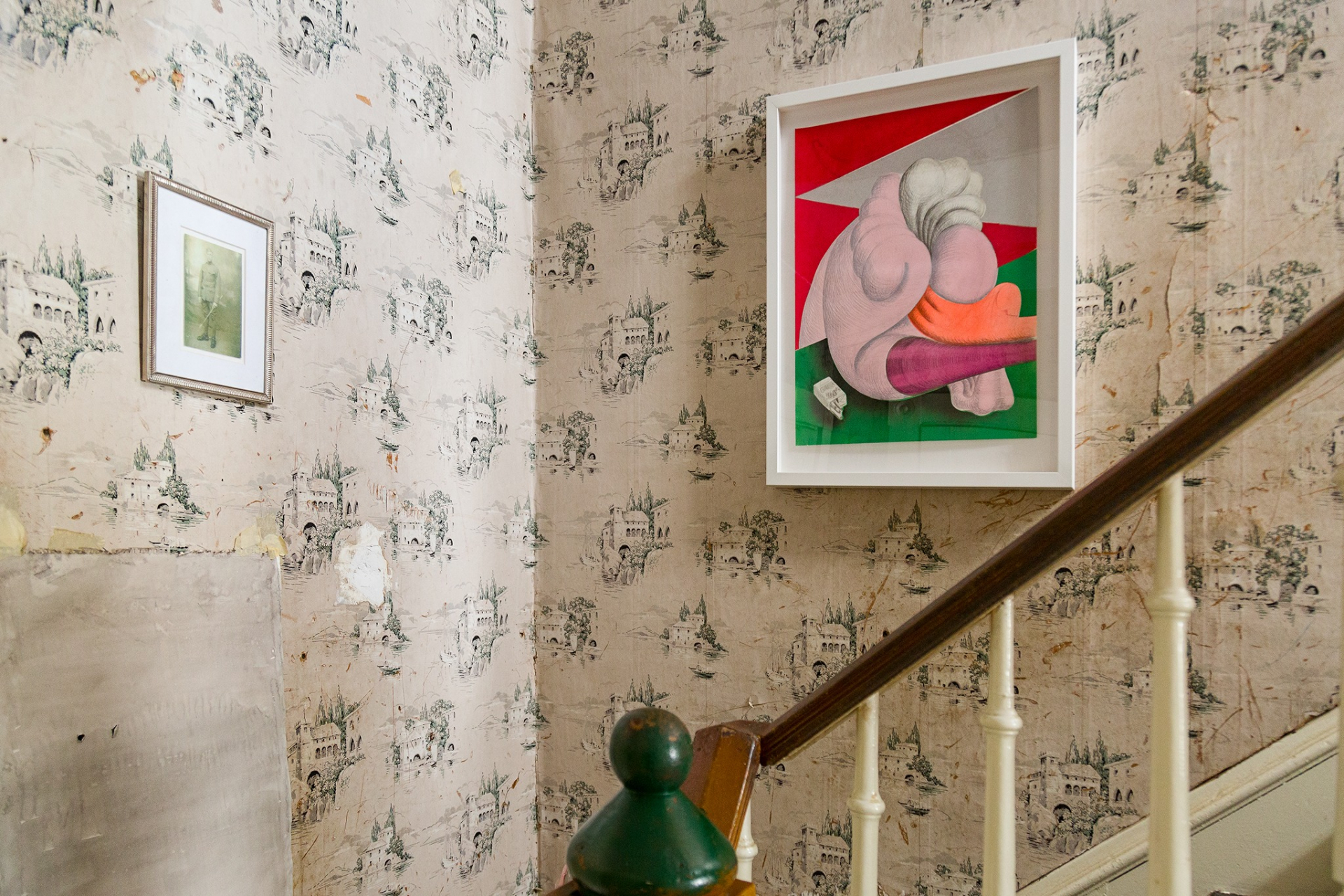 An installation view of the exhibition, Mike Goodlett: Chez Lui, at MARCH, Lexington, Kentucky, in 2021.