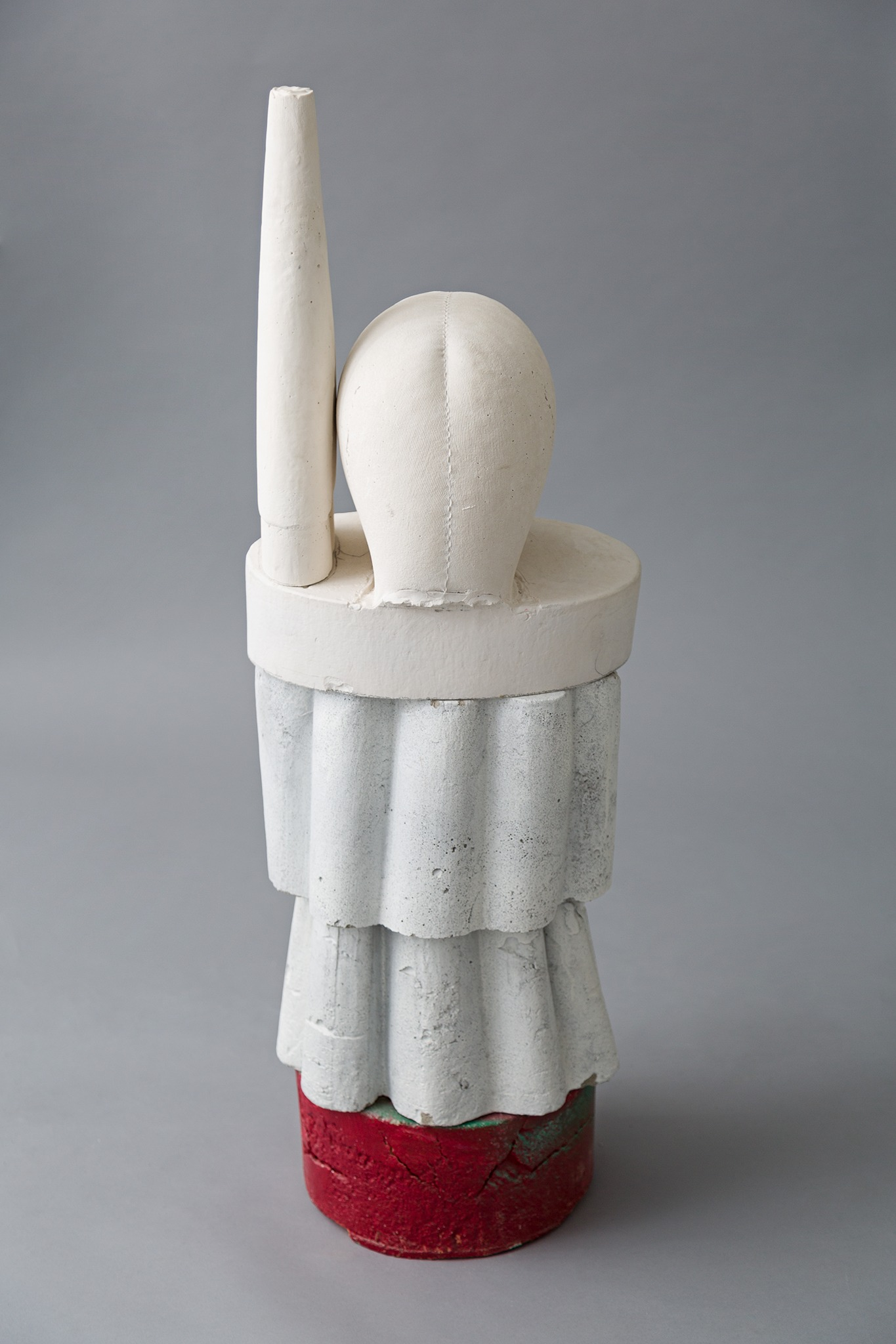 Mike Goodlett, Untitled, 2019, Concrete and Hydrostone with oil-based enamel, 36 x 12 inches