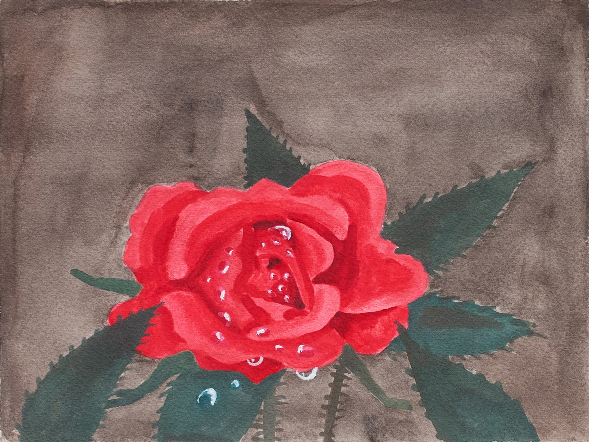A painting by Claudia Keep titled Untitled (Rose), dated 2020.