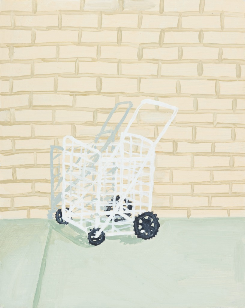 A painting by Claudia Keep titled 2:22 PM Dekalb Avenue, dated 2020.