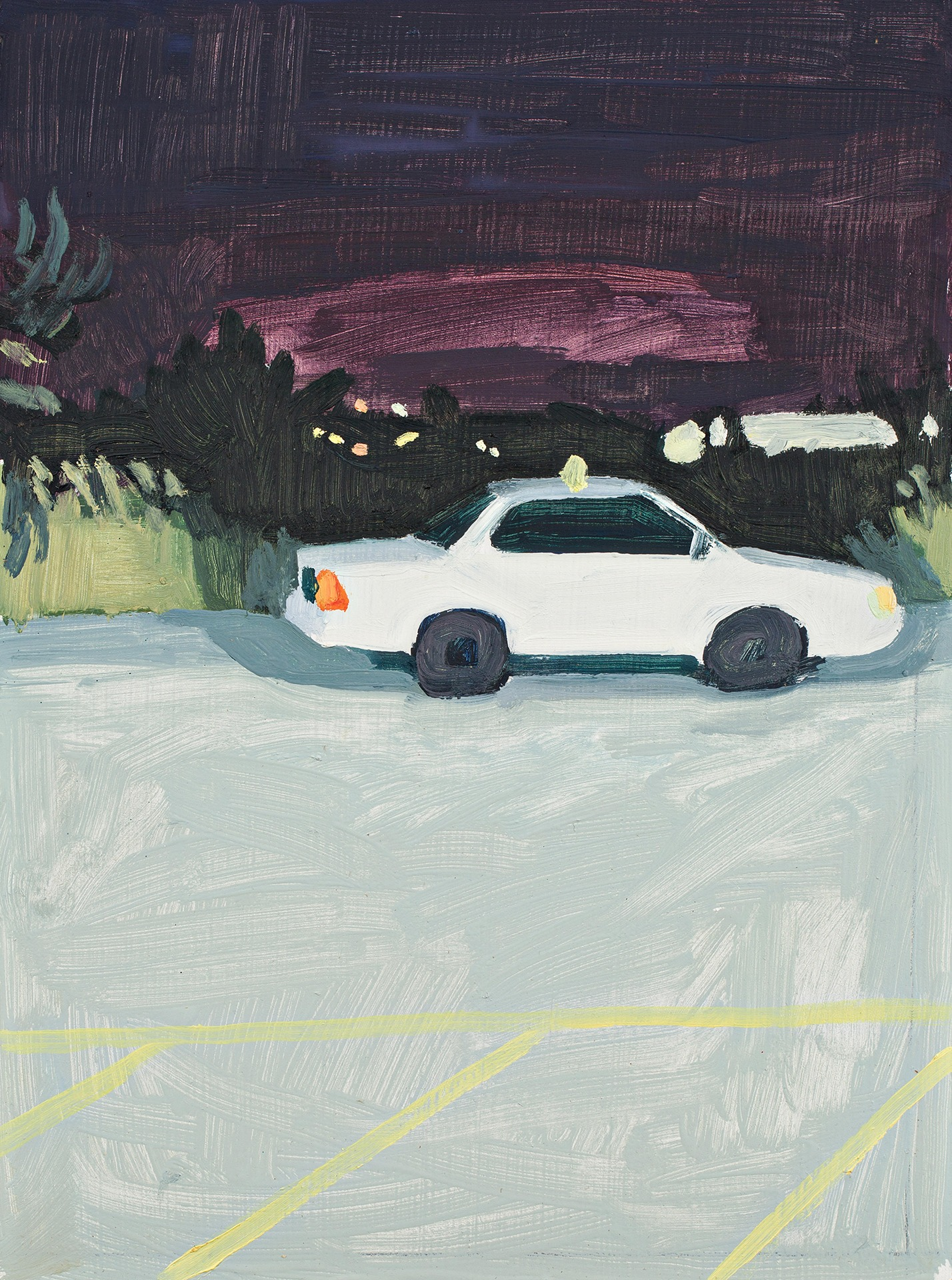 A painting by Claudia Keep titled Bangor, 10:32 PM, dated 2019.