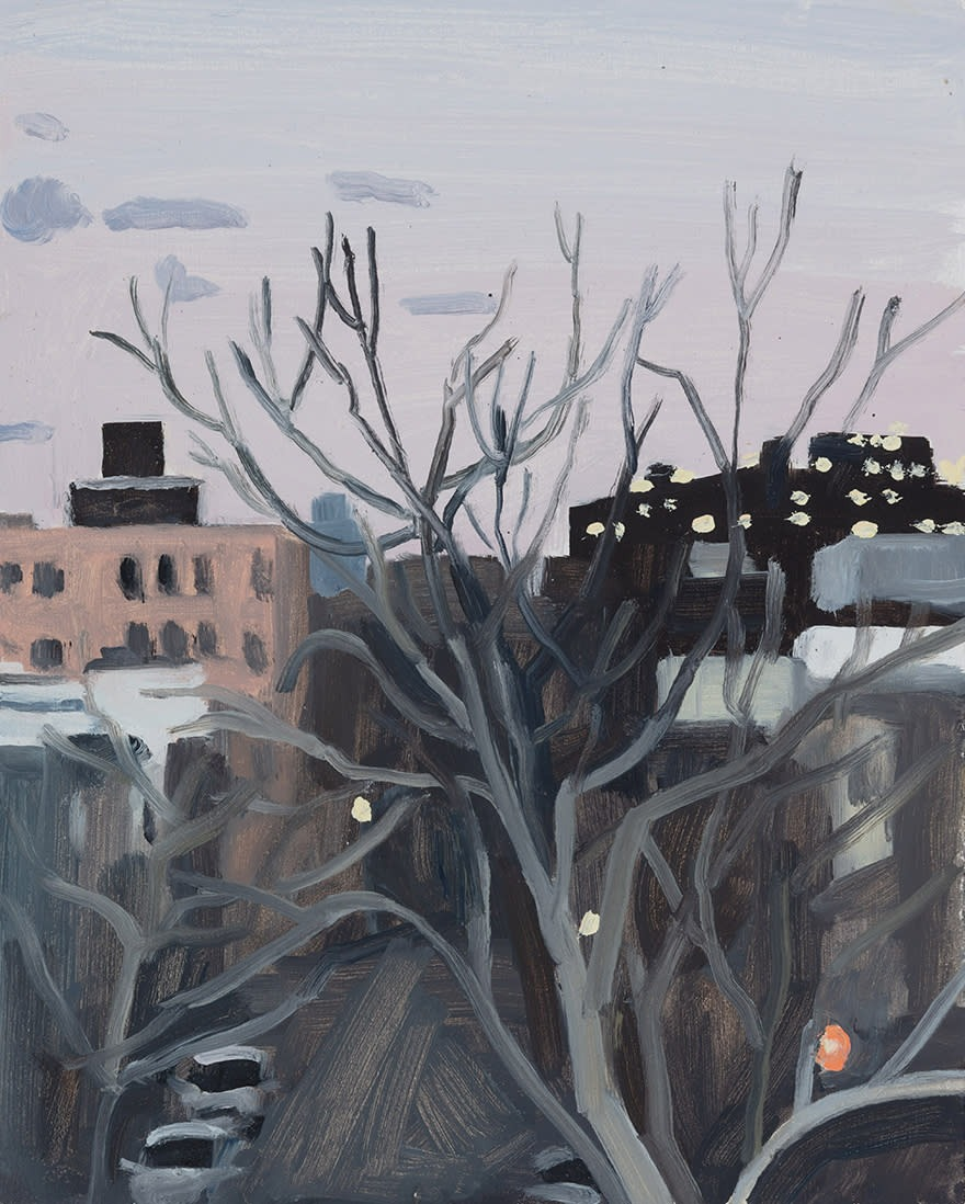 A painting by Claudia Keep titled January, Afternoon, dated 2020.