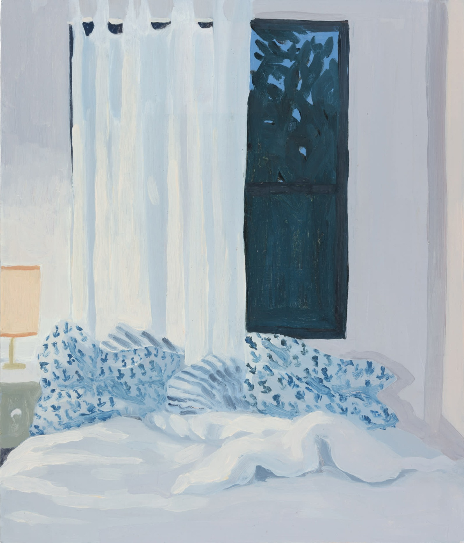A painting by Claudia Keep titled Evening, In May, dated 2020.