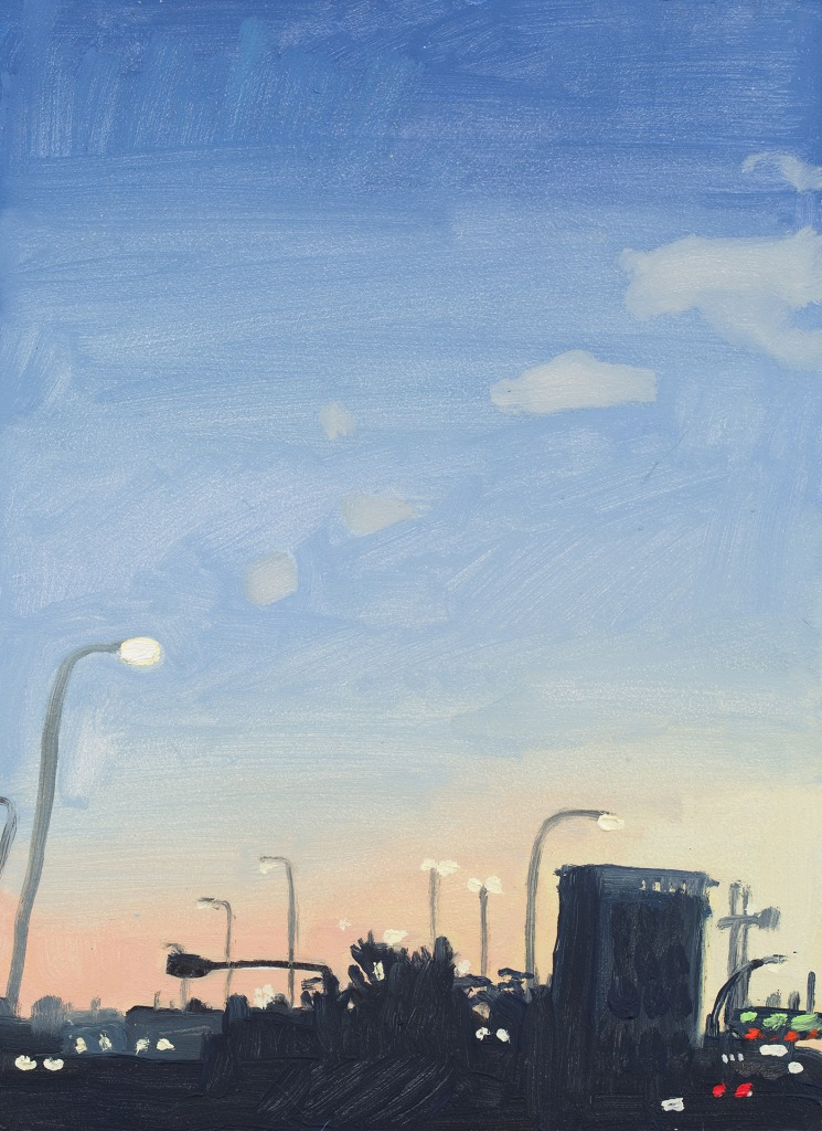 A painting by Claudia Keep titled Getting Gas, dated 2020.