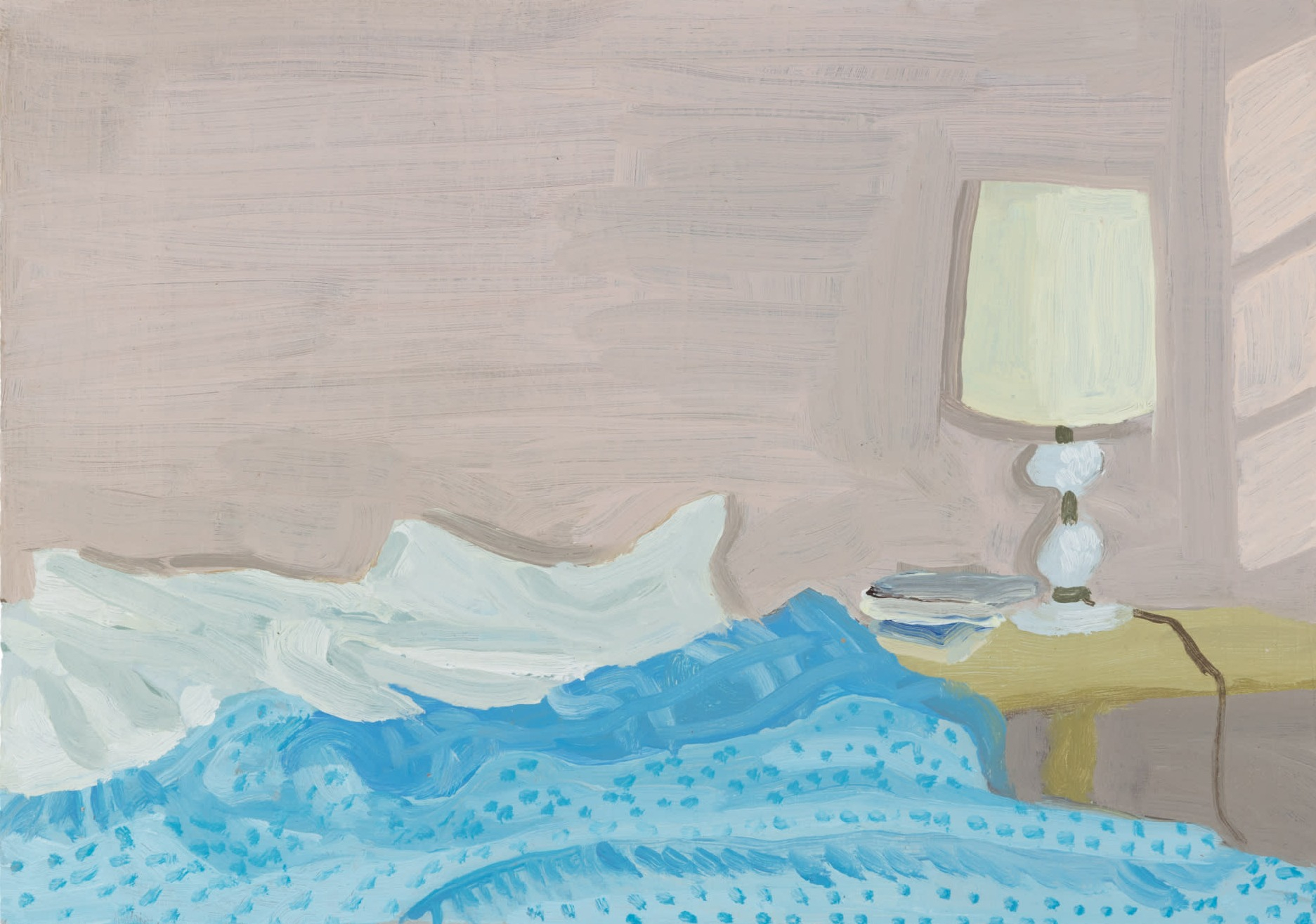 A painting by Claudia Keep titled September Morning, dated 2020.