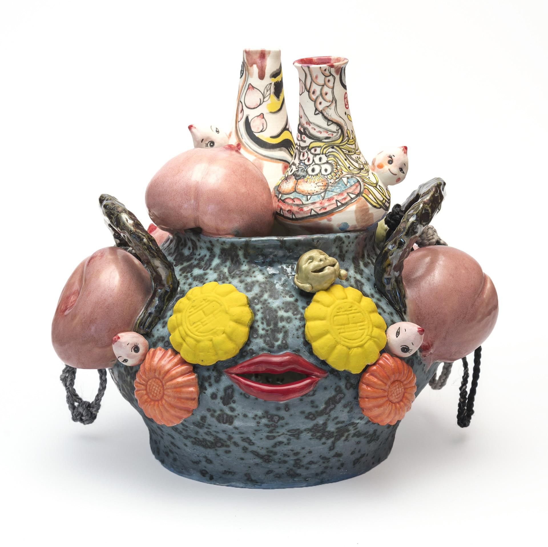 A sculpture by Jiha Moon titled Magic Halmae, dated 2021.