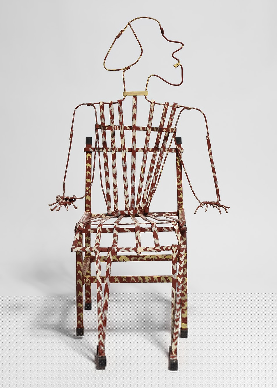 An untitled sculpture by Thornton Dial, dated 1987.