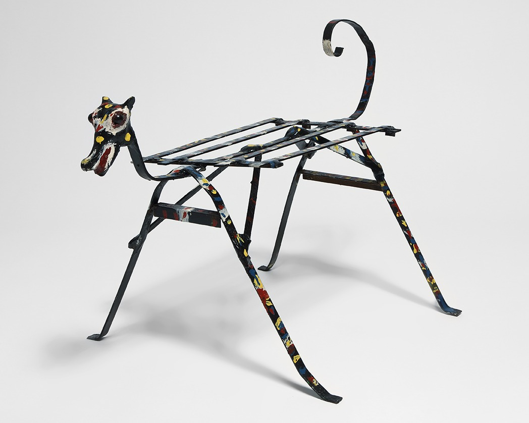 A sculpture by Thornton Dial titled Untitled (Dog), dated 1987.