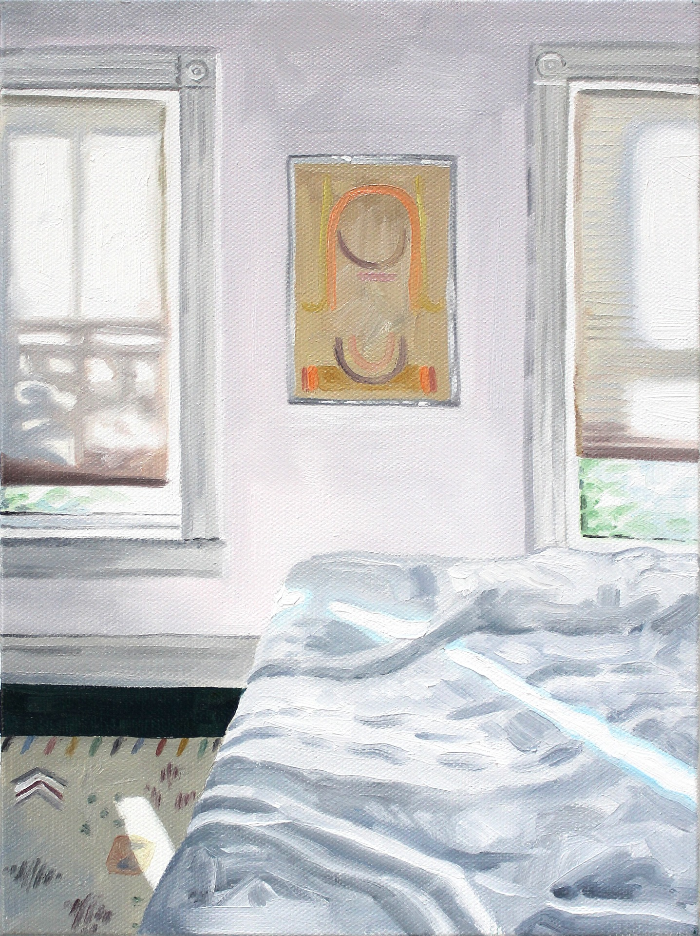 A painting by Lina Tharsing titled Bedroom Light, dated 2020.