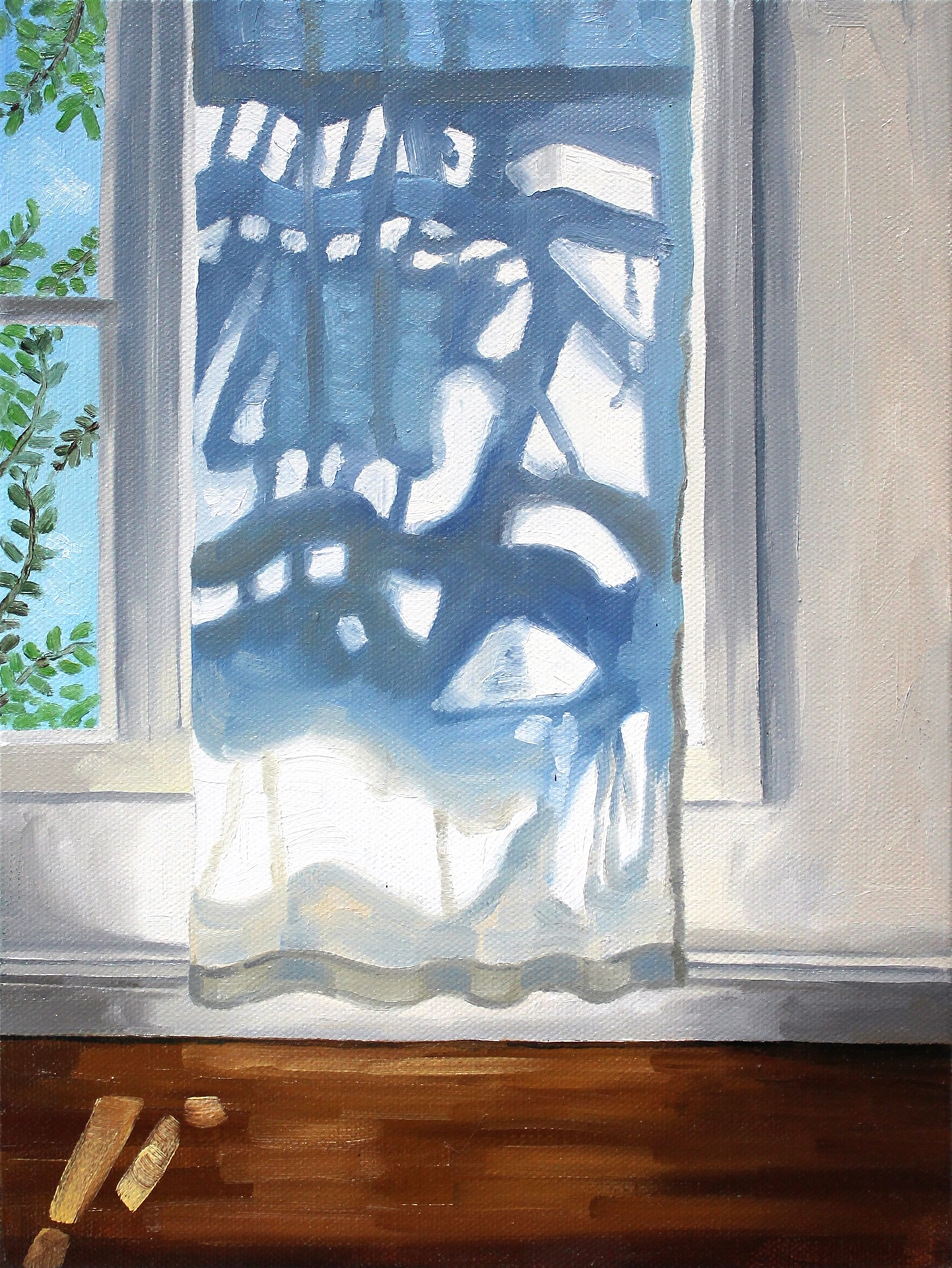 A painting by Lina Tharsing titled Catching Light, dated 2020.