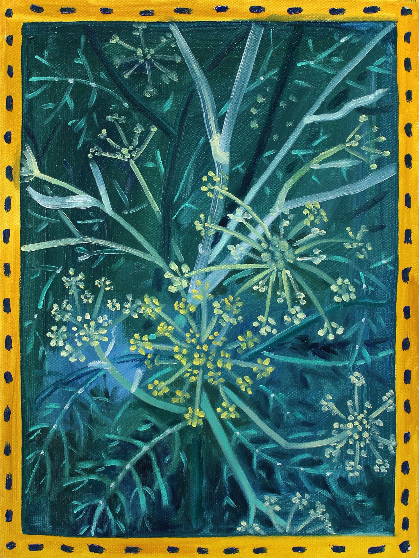 A painting by Lina Tharsing titled Fennel, dated 2020..