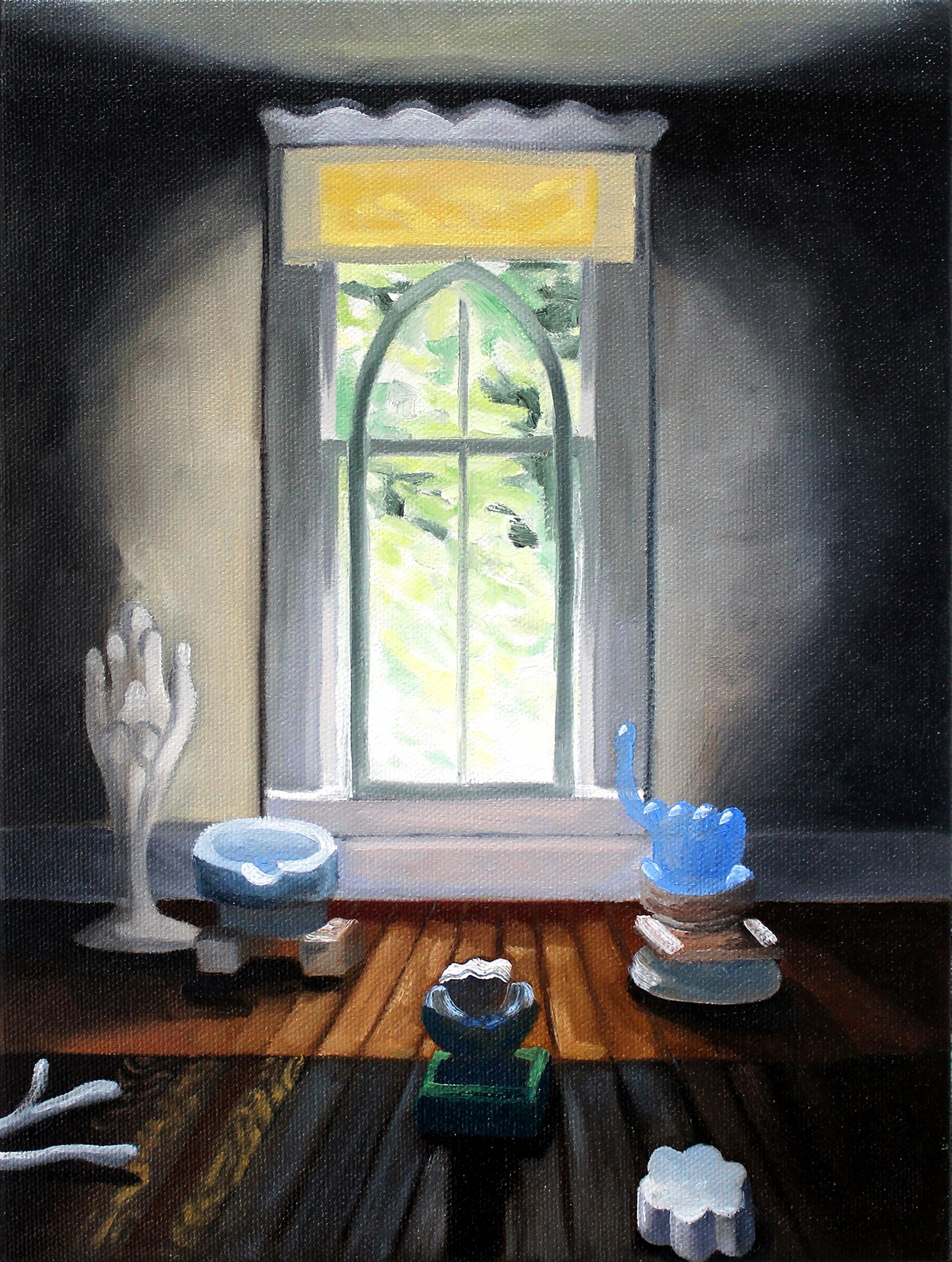 A painting by Lina Tharsing titled Goodlett's Studio, dated 2021.