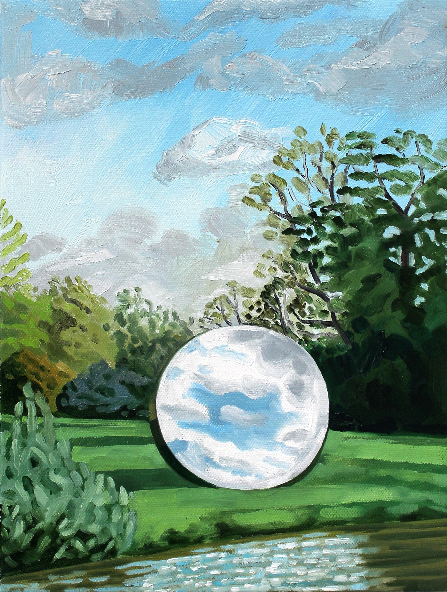A painting by Lina Tharsing titled Sky Mirror, dated 2020.