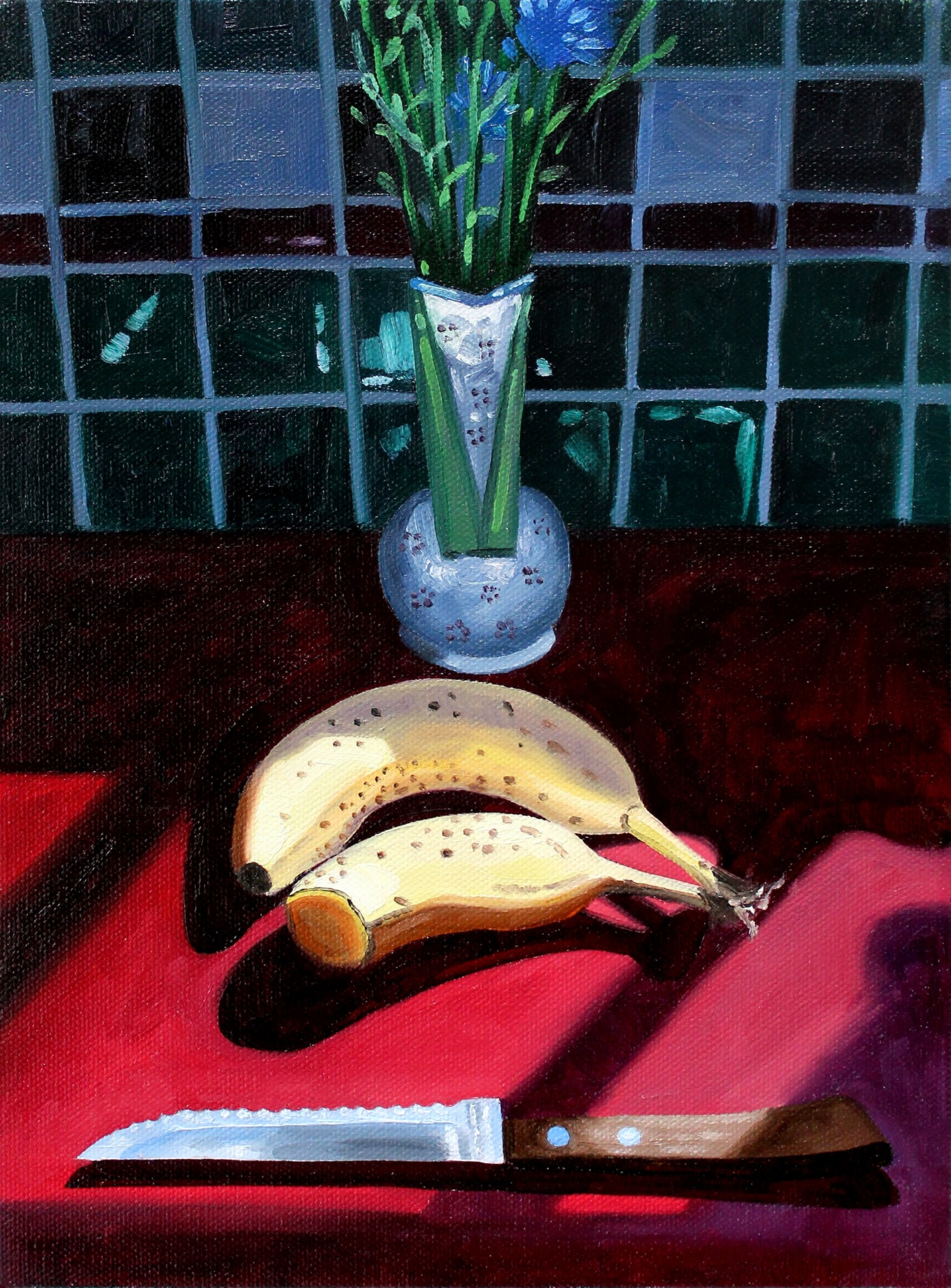 A painting by Lina Tharsing titled Sliced, dated 2020.