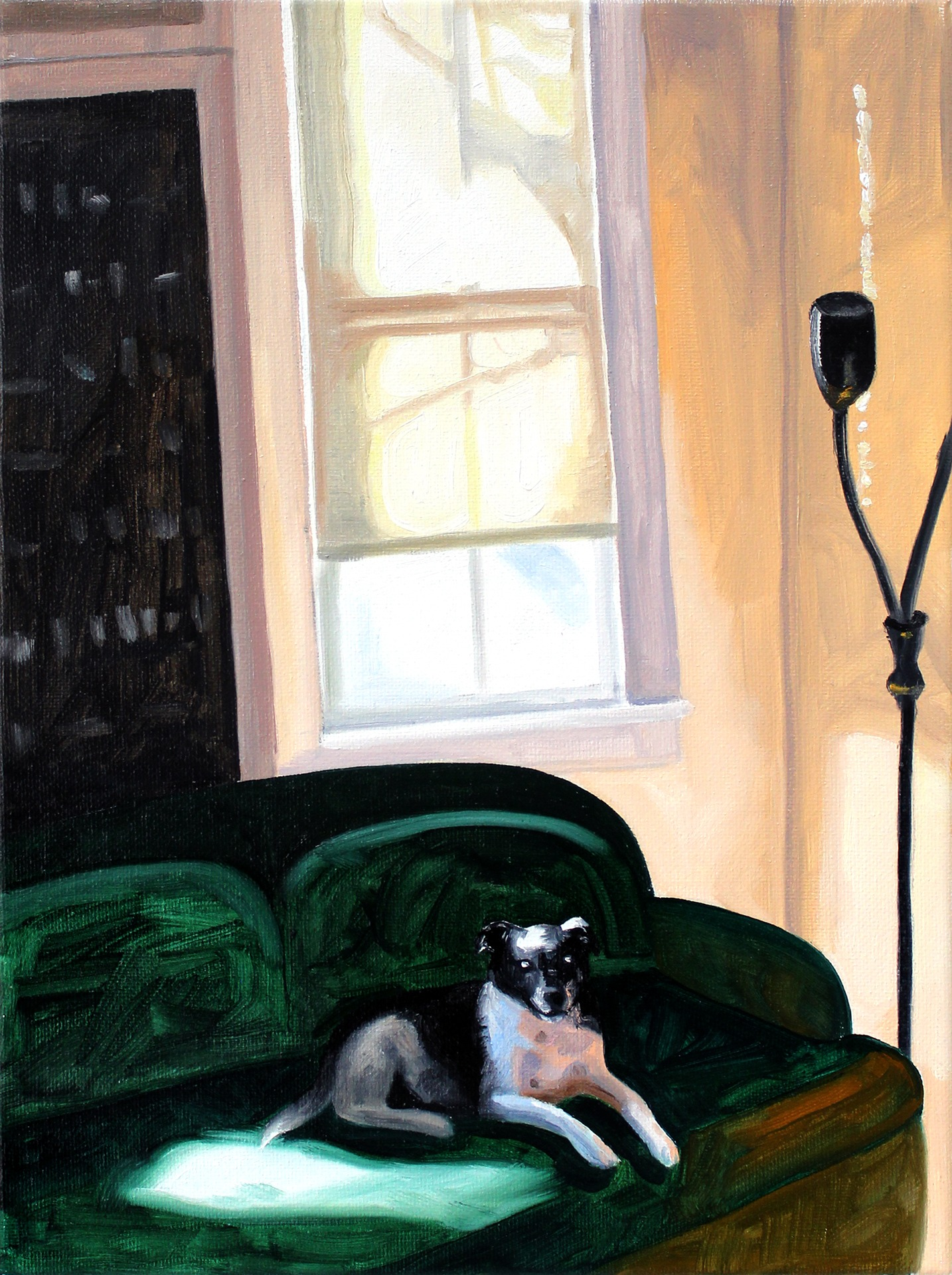 A painting by Lina Tharsing titled Waiting Watching, dated 2021.