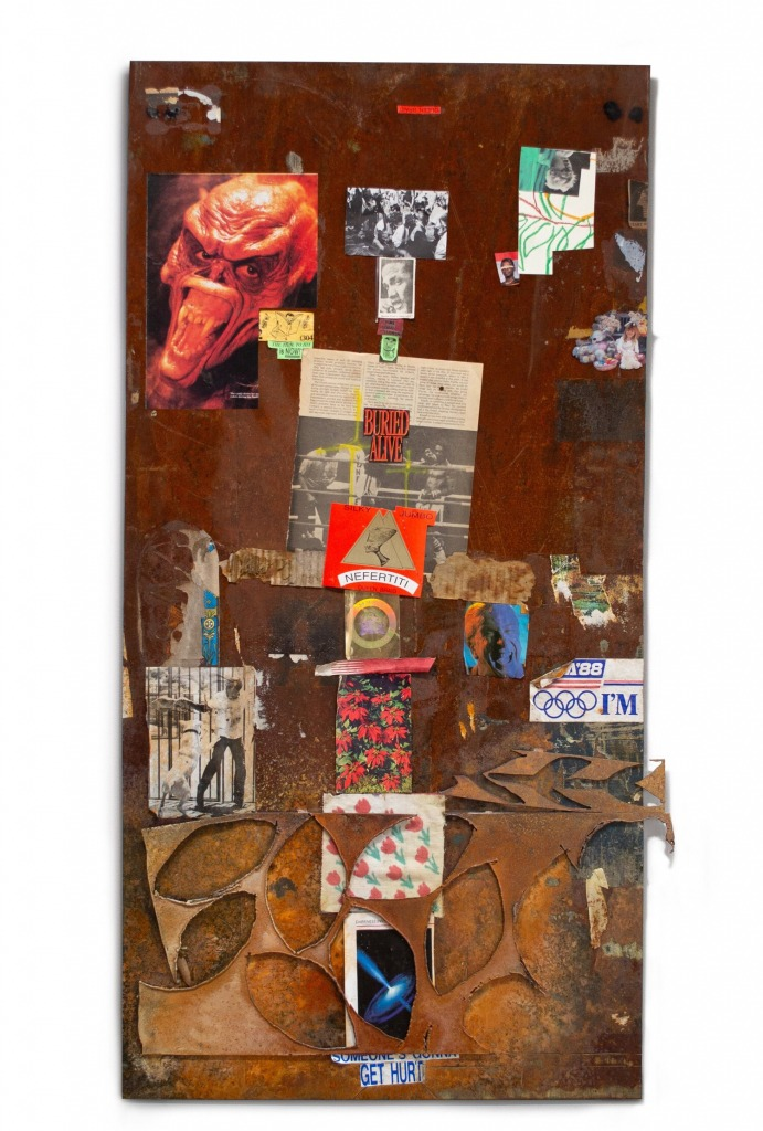 An untitled collage by Y. Malik Jalal, dated 2020.